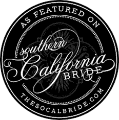 "As featured on ""Southern California Bride"" - thesocalbride.com"
