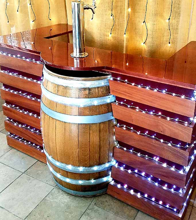 Our Classic bar with 1 Keg Barrel and 1 Tap